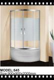 Cerco de vidro deslizante do chuveiro da porta da cuba de Frameless, revestimento do aço inoxidável