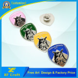 Atacado Customized Promotion / Souvenir Gift Soft Enamel Iron Stamping Pin Badge com niquelado (XF-BG38)