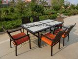 فناء حديقة أثاث لازم يتعشّى مجموعة مع خزفيّ طاولة & [ويكر شير]