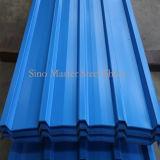 Bobinas galvanizadas Prepainted materiais do aço do metal ondulado da telhadura