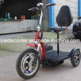 Scooter électrique mobile à 3 roues pliable de 500 W pour handicapés avec panier