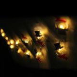 Forme Sonwman lumière blanche de fil de cuivre de Noël Lumière cordes
