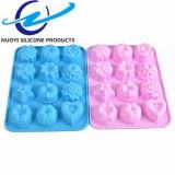 Moulage de gâteau de silicones de forme de fleur de Muti de catégorie comestible