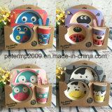Ensemble de vaisselle pour enfants de haute qualité pour aliments populaires en fibre de bambou