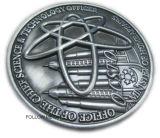 Pièce de monnaie d'enjeu avec le logo 3D. Ministère des affaires intérieures