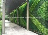 يزرع خضرة اصطناعيّة شاقوليّ عشب حد جدار