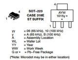 Circuito integrato monolitico dello scambista fornito auto CI Ncp1015st100t3g