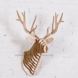 ホーム装飾的なクリスマスの装飾のためのDIYの創造的な木動物ヘッド