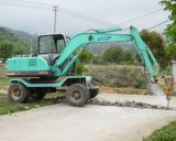China Precio barato 7ton máquina de excavación con ruedas excavadora