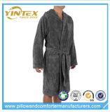 Los hombres personalizaron 100% el algodón Negro-m, L, XL, albornoz de XXL