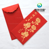 Impresión con papel rojo con dinero como regalo para los niños,