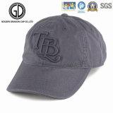 二重刺繍が付いている黒く粋な製造業者の品質の野球帽