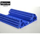 Banda transportadora plástica de Modur de la costilla de Rasied del funcionamiento liso del poliuretano