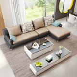 Mobília moderna da sala de visitas do sofá superior europeu do couro de grão (HX-SN029)