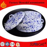 porcelana del equipo del hogar de los utensilios de cocina del crisol de las existencias del esmalte 5qt