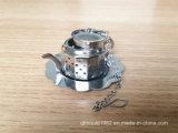 Regalo di cerimonia nuziale e Giftaways--Favore nel tè Infuser di figura della teiera dell'acciaio inossidabile del contenitore di regalo di Teatime con il piatto del gocciolamento