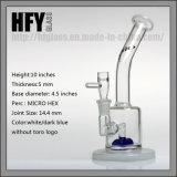 Tubo de agua de cristal Hex micro de cristal de Toro de las nuevas llegadas que fuma con la talla común de 14m m