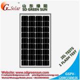 Mono панель солнечных батарей 120W для солнечной электрической системы