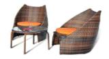 Présidence et Tableau extérieurs de loisirs de meubles de rotin