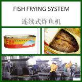 Línea continua de la sartén de los pescados con capacidad en 200kgs/Hr