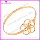 Scavare fuori il braccialetto semplice dell'involucro del collegare del braccialetto del polsino di Crytsal del fiore