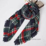 Sciarpa quadrata d'imitazione del Tartan del cachemire classico dell'assegno/sciarpa acrilica (HWBA102)