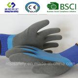 Gants givrés par latex, gants de travail de sûreté de fini de Sandy (SL-RS305)