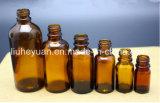 Bernstein-wesentliches Öl-Glastropfenzähler-Flaschen des Rabatt-5ml 10ml 15ml 30ml 50ml 100ml