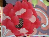Maillot de soie imprimé fleur rouge brillant