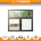 Gli otturatori della finestra di alluminio di 65 serie, i ciechi ed il vetro Tempered hanno personalizzato i disegni, con ventilazione perfetta ed effetto impermeabile