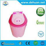 Kundenspezifische Tierentwurfs-Karikatur-Plastikmülleimer-Abfall-Dosen-Abfall-Sortierfach