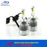 Todos en una linterna auto H4 H7 H11 H13 9004 H1 H3 del coche LED de la MAZORCA C6 de la lámpara 36W 3800lm