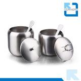 Tipo di vendita caldo 304 bottiglie del vaso del piatto & del sale e del pepe della spezia dell'acciaio inossidabile