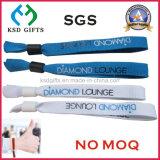 Wristband tessuto promozione di plastica dell'omaggio del raso della clip