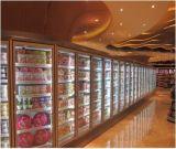 Vetrina verticale del congelatore per il supermercato