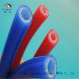 2.5MPa verdrängte Flechte verstärkter Faser-Silikon-Gummi-Schlauch-/Gefäß-China-Lieferant