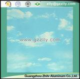Plafond d'impression d'enduit de rouleau de simulation de nature pour la décoration d'intérieur - ciel bleu et nuages blancs