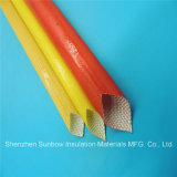 Amber Color 4.0kv PU Coated Fiberglass Sleeving for Electric Appliances