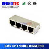 Conetor reto Rated superior 1X4 RJ45 da Multi-Porta