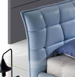 Кровать неподдельной кожи новой шикарной конструкции самомоднейшая (HC328) для спальни