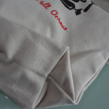 Bolso de totalizador impreso modificado para requisitos particulares promocional de los bolsos de las compras de la lona del algodón