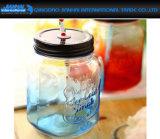 Maurer-Glas der Glasflaschen-250ml mit Griff und Stroh