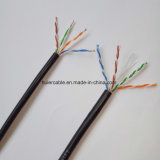 Plattfisch-Durchlauf Cat5e LAN-Kabel, geprüft zu 100MHz