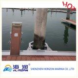 Плавучий док использовал сделанное приспособление направляющих выступов кучи в Китае