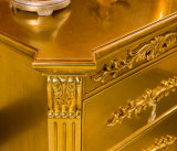Plakat-Bett-Kabinendach des Hartholz-König-Size Golden Palace vier mit geschnitzt