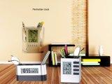 Promoção Penholder Digital Alarm Table Clock com calendário e temperatura