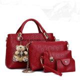 Bw262 New Fashion Colorful Tote Handbags Mulheres PU Bag Set