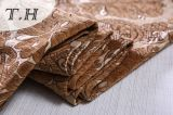Flaches Brown-Chenille-Jacquardwebstuhl-Sofa-Gewebe durch 400GSM