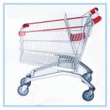 Carrinhos de compras de supermercado revestidos de zinco com 160L