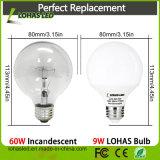 Bulbo blanco de Dimmable LED de la alta hora solar del lumen G25 9W